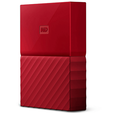 WD My Passport 4TB USB 3.0 Portable External Hard Drive (Red)